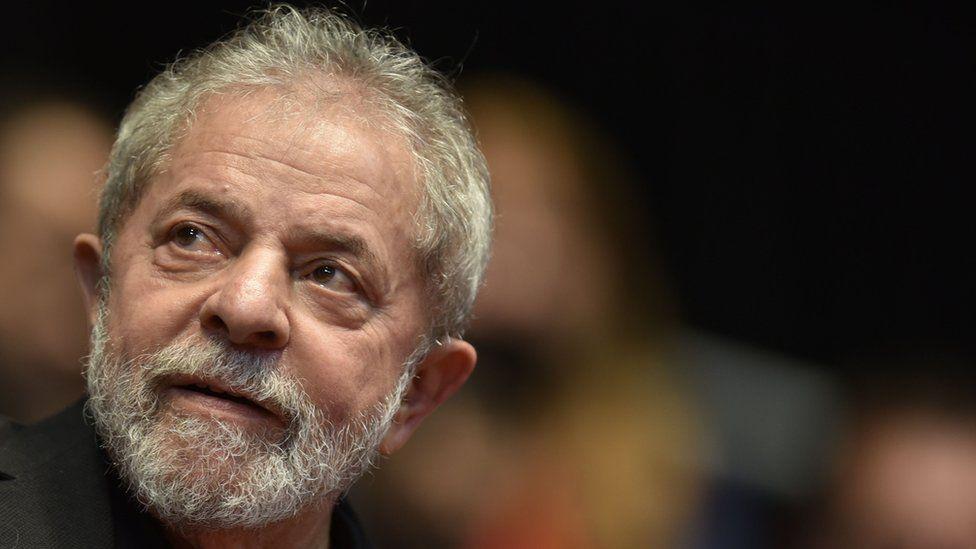 Former President Lula da Silva attends a congress for the Brazilian Workers Union (CUT) in Belo Horizonte, Brazil, on 28 August 28 2015