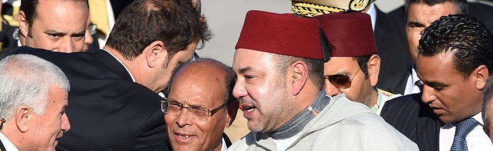 Moroccan king Mohamed VI