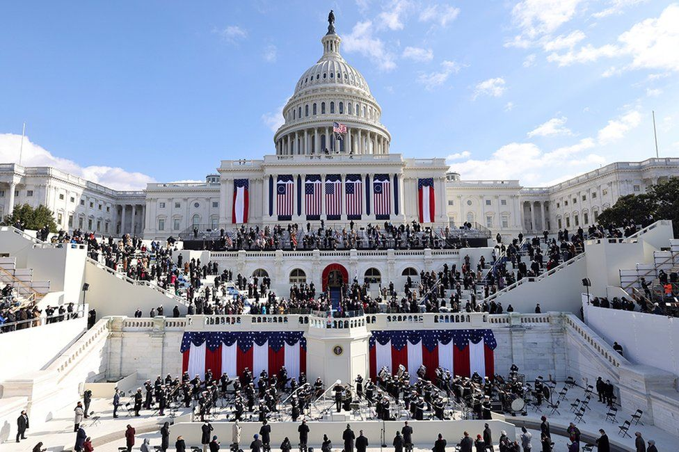 A general view of the Capitol during the inauguration of Joe Biden as the 46th President of the United States on the West Front of the U.S. Capitol in Washington, U.S.,