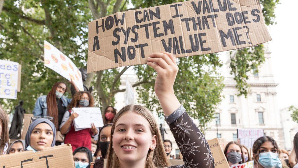 Young protesters in London, summer 2020