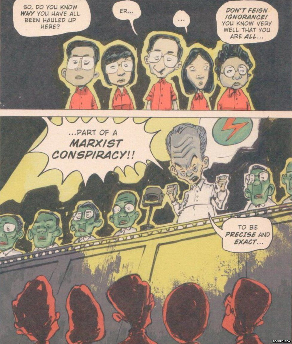 Scan from Sonny Liew's The Art of Charlie Chan Hock Chye