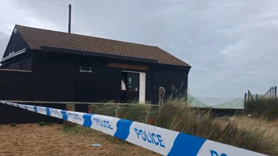 The Dunes cafe has been cordoned off