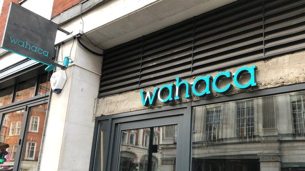 Wahaca restaurant sign