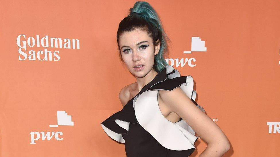 Jessie Paege at a red carpet event in Los Angeles