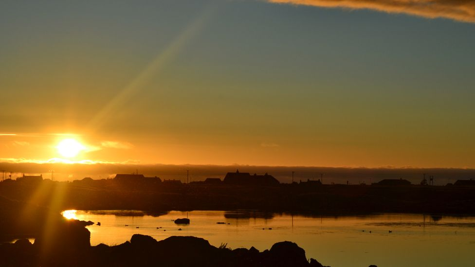 Sunset over South Uist