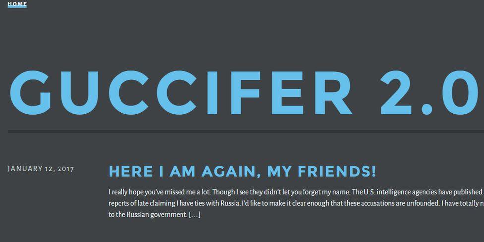 Screenshot of Guccifer's blog header
