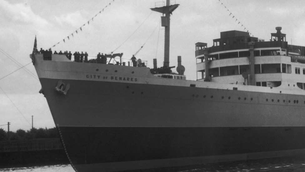 City of Benares at its launch in 1936