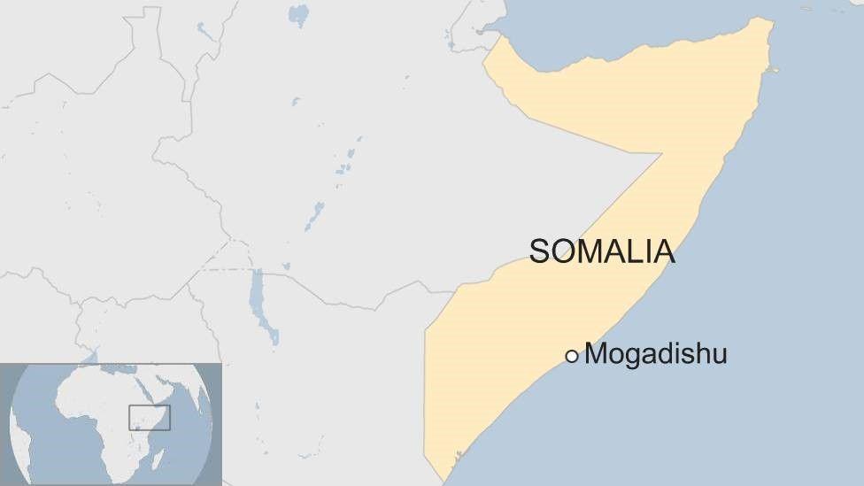 Map showing Mogadishu