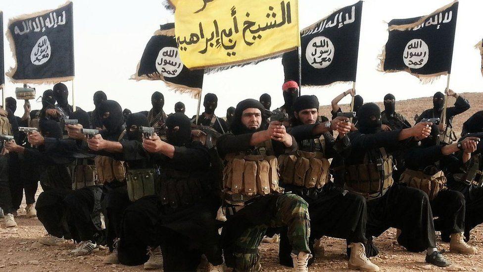 IS militants in propaganda video, 2014