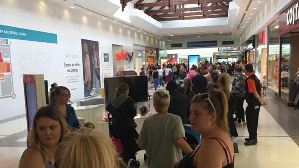 Telford Shopping Centre queues