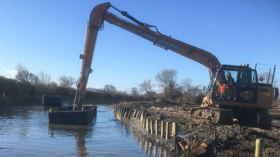Dredging work on the Montgomery Canal