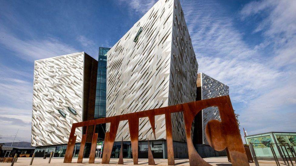 Titanic Belfast Museum in Belfast Harbour