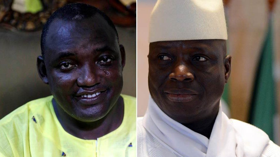 Adama Barrow and Yahya Jammeh