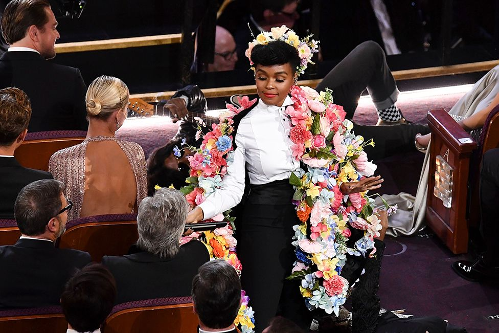 Singer-songwriter Janelle Monae performs on stage