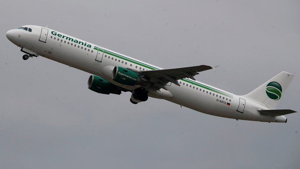 Germania plane in mid-air