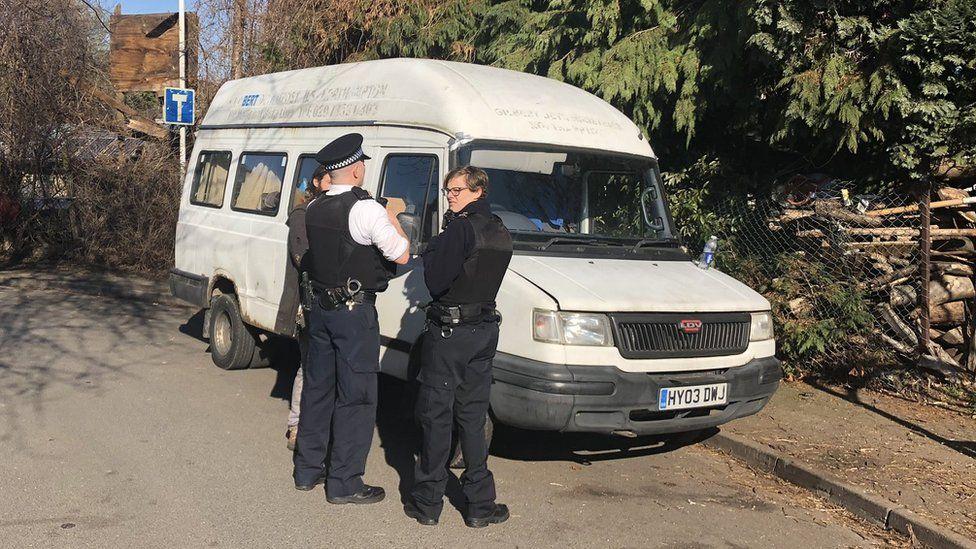 Police outside Grow Heathrow