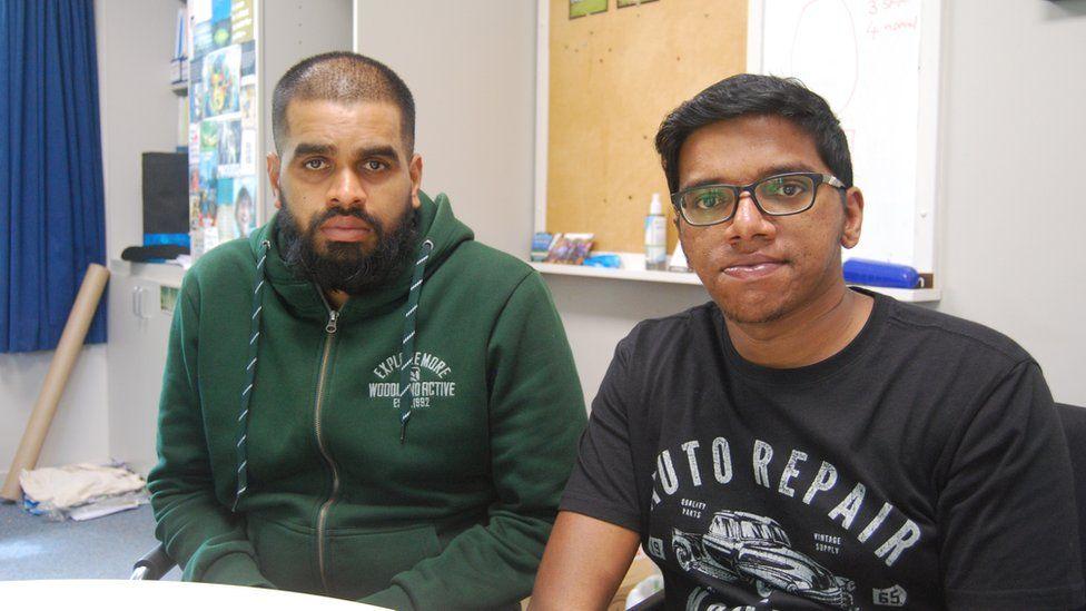 Abdul Nazer (left) and Fahad Ismael Ponnath