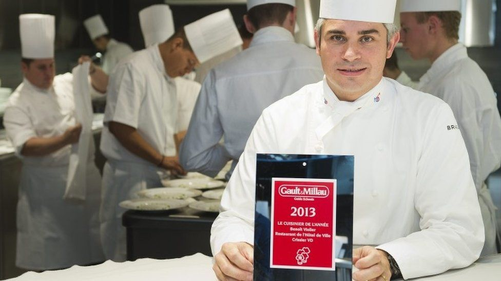 Benoit Violier with 2013 Chef of the Year award