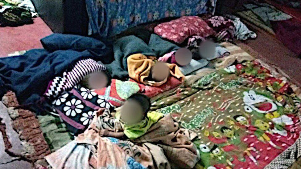 Baby girls in a room in Kolkata