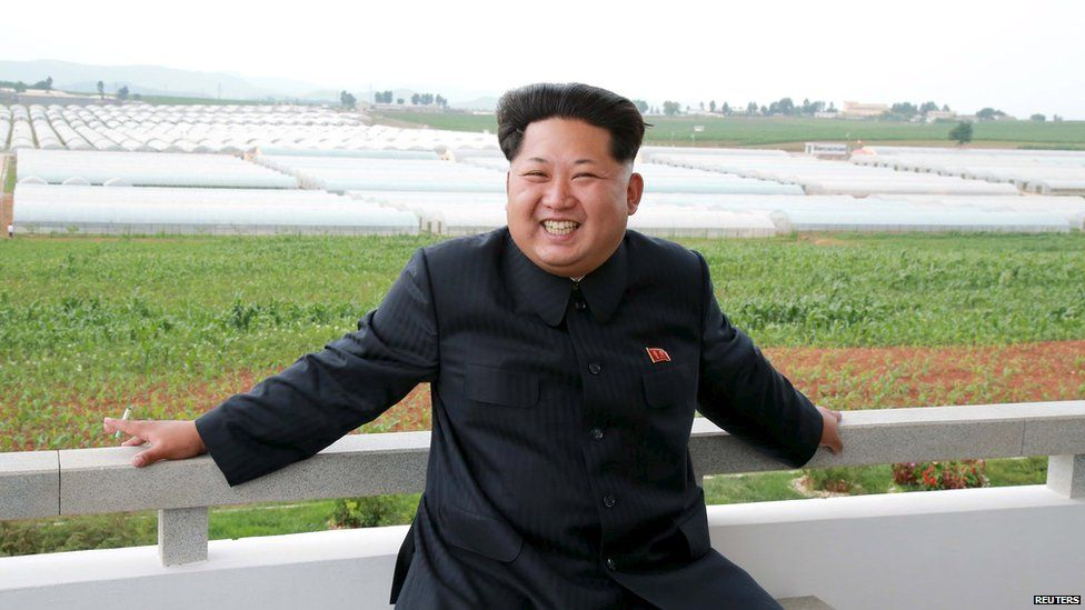 North Korean leader Kim Jong Un gives field guidance to the Jangchon Vegetable Co-op Farm in Sadong District, Pyongyang City- June 30, 2015.