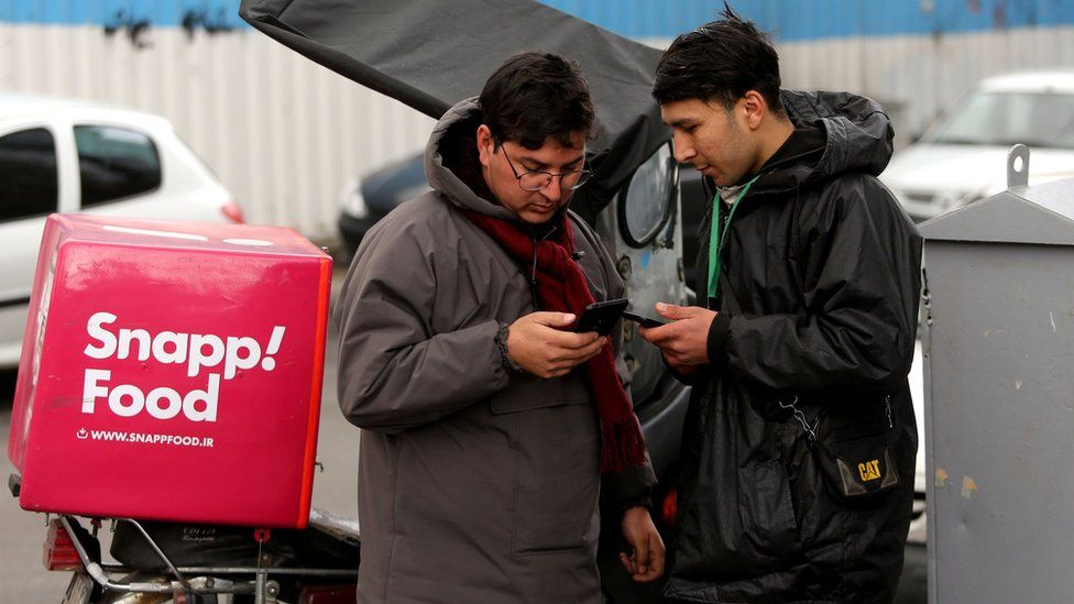 Iran internet blackout affects a local food delivery app