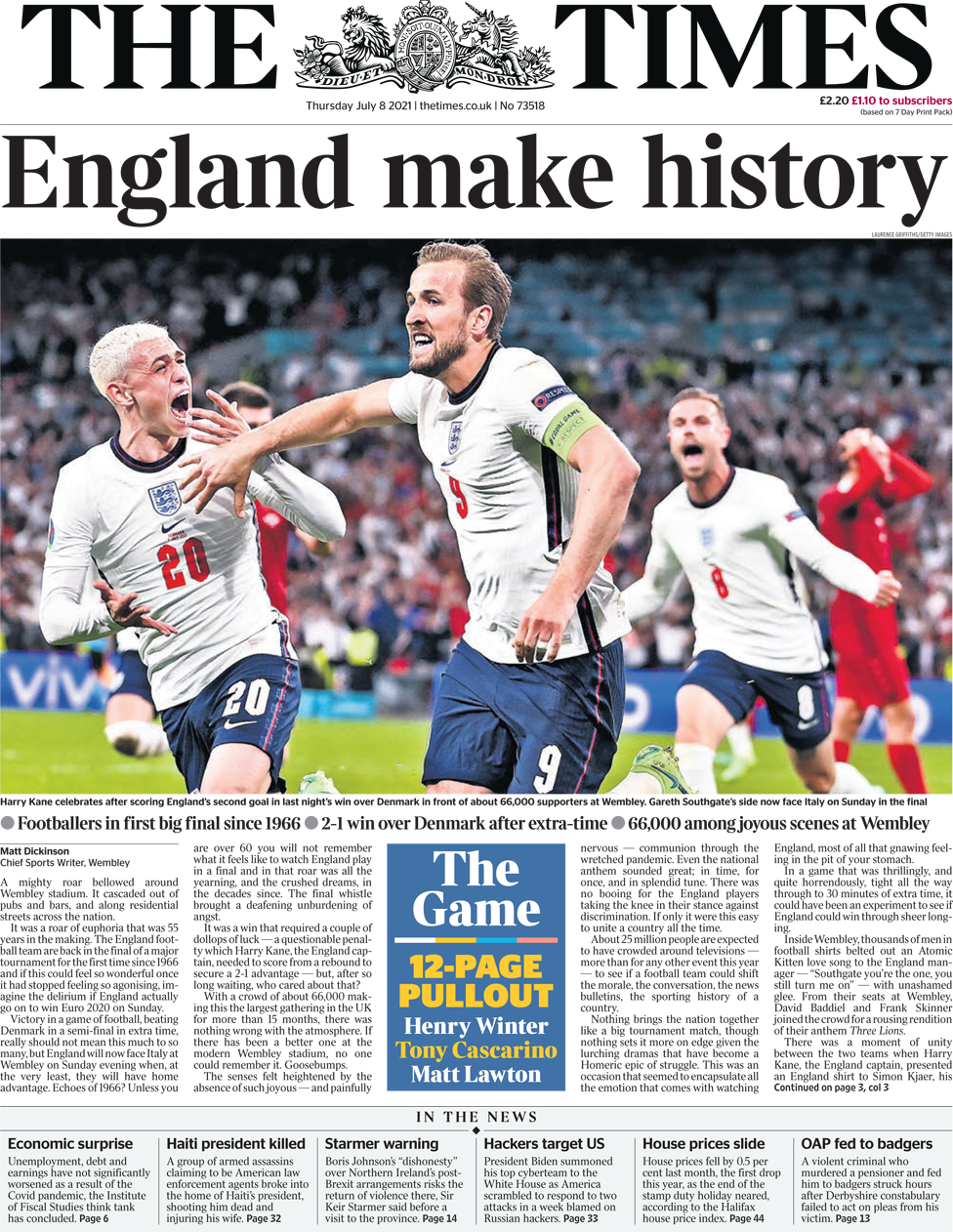 The Times Thursday