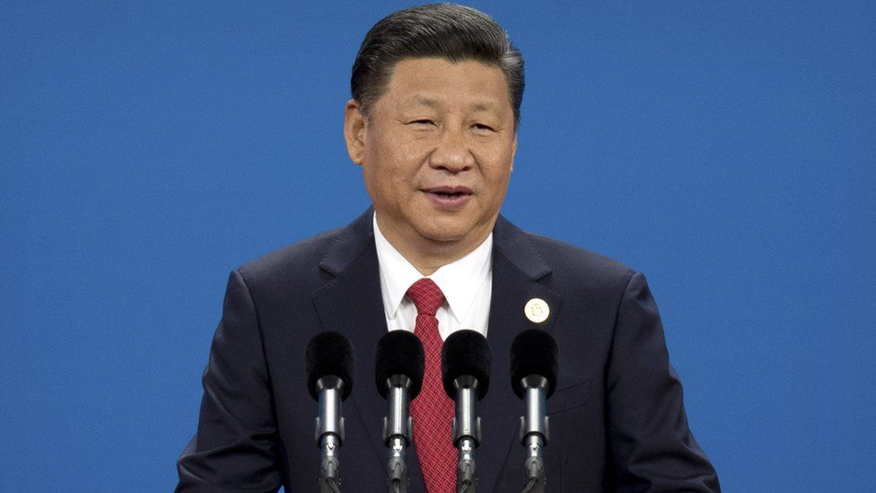 Chinese President Xi Jinping at the opening ceremony of the Belt and Road Forum at the China National Convention Center (CNCC) in Beijing, 14 May 2017