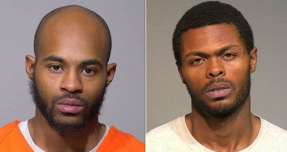 Isaac Barnes and Untrell Oden in pictures supplied by Milwaukee County Jail