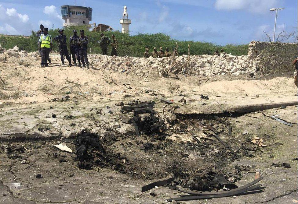 Bomb explosion site