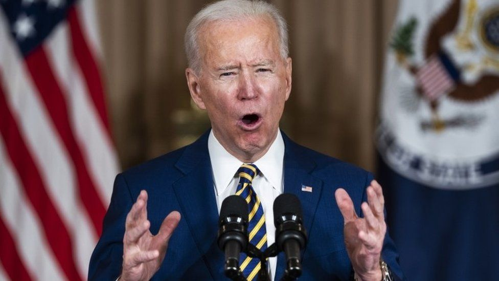 Joe Biden makes a foreign policy speech at the State Department in Washington