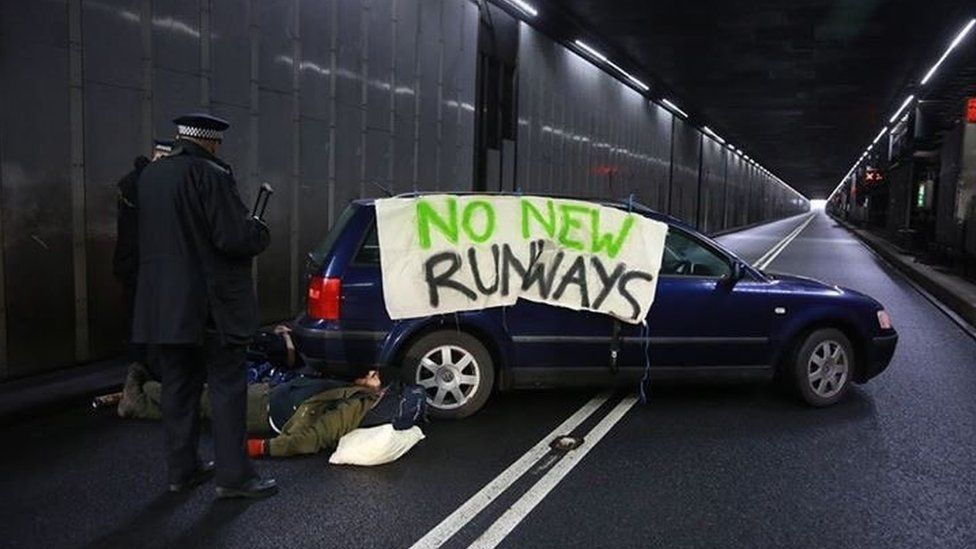 Protest at Heathrow Airport