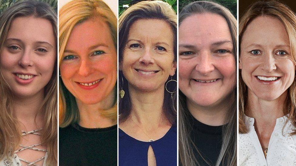 (L-R) Lady Eliza Dundas, Sarah Long, Lady Willa Franks, Tanya Field, and Hatta Byng