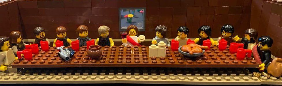 The Last Supper depicted in Lego