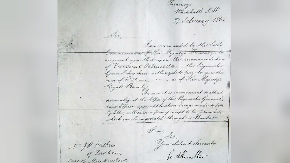 Letter to James Withers