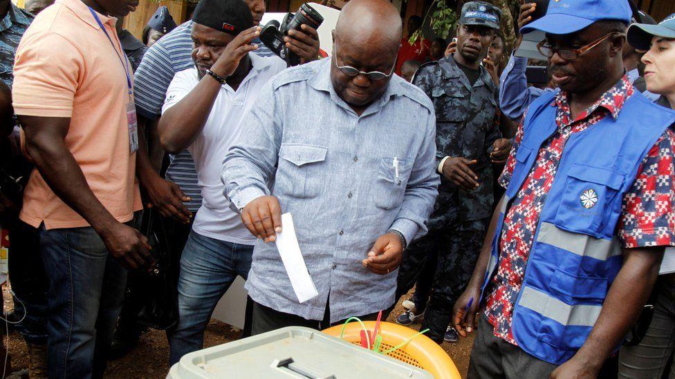 Akufo votes