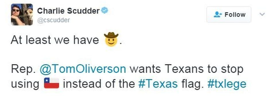 Texas lawmaker: 'Don't use Chile flag emoji when you mean