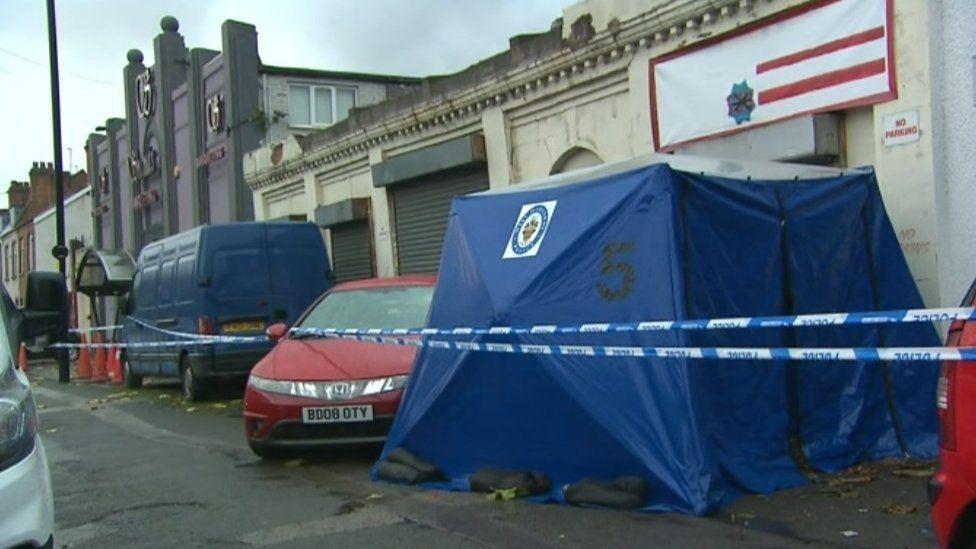Crime scene in Walford Road