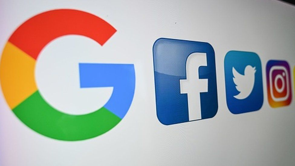 Google and Facebook logos