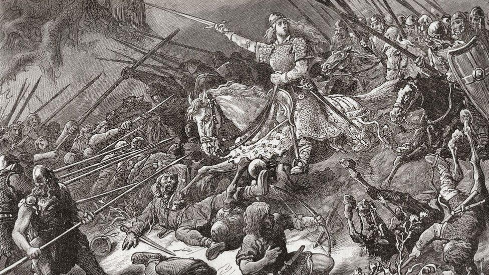 Aethelflaed attacks Welshman