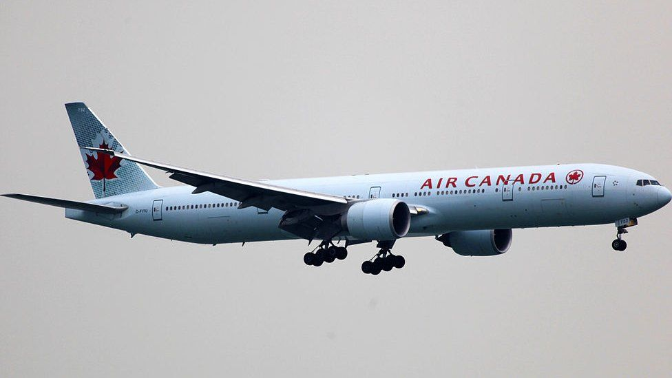 A Boeing 777-333 is pictured