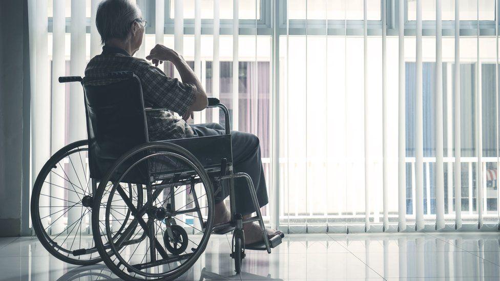 A person in a wheelchair