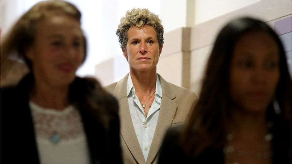 Andrea Constand in courthouse