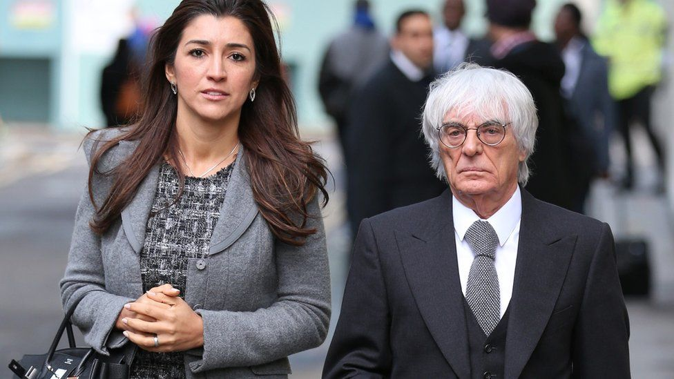 Bernie Ecclestone and wife Fabiana Flosi in 2008