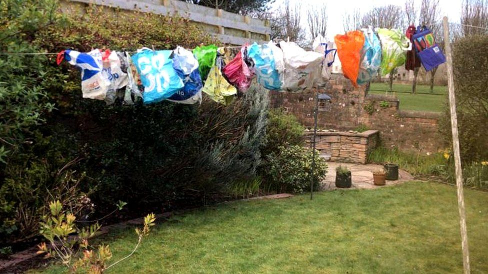 Washed shopping bags
