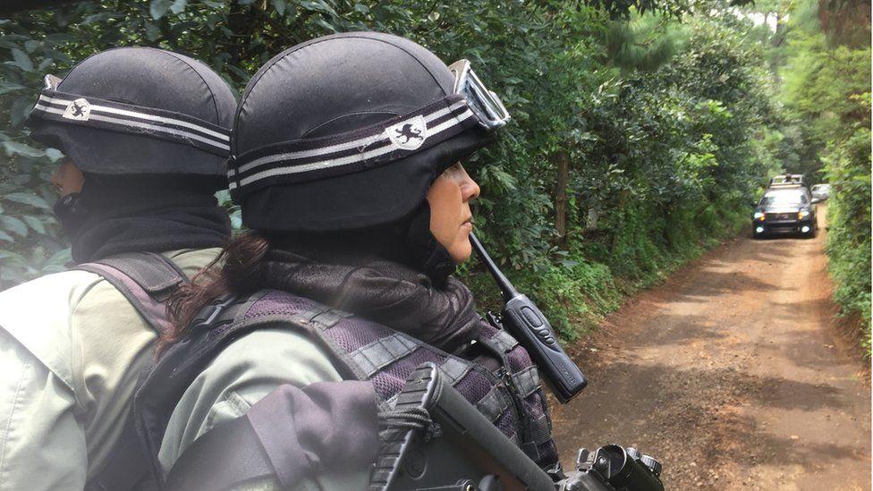 Lorena Flores on patrol