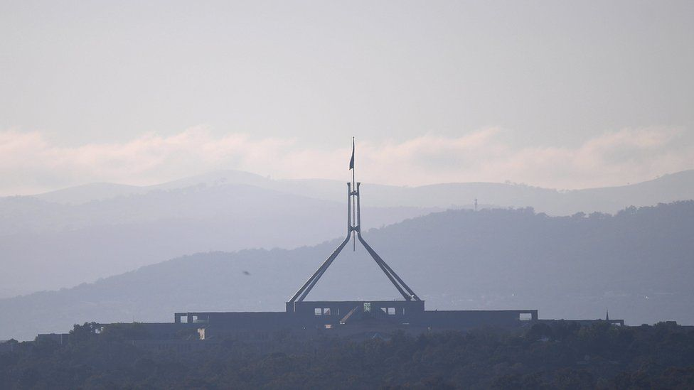 An early morning view of the Australian Parliament House in Canberra, Australia, 15 November 2017.