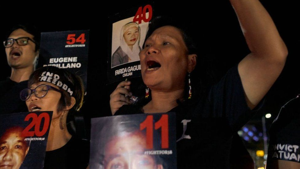 A vigil took place this month in Manila to remember victims of the massacre