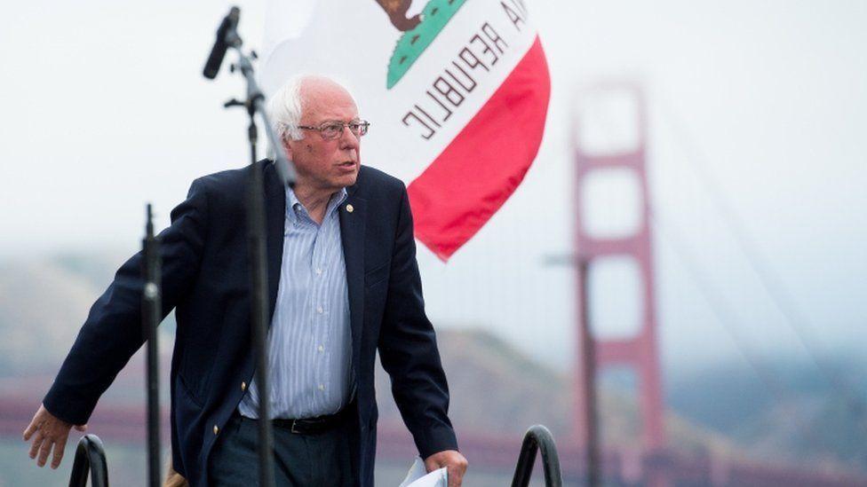 Bernie Sanders in San Francisco, 6 June