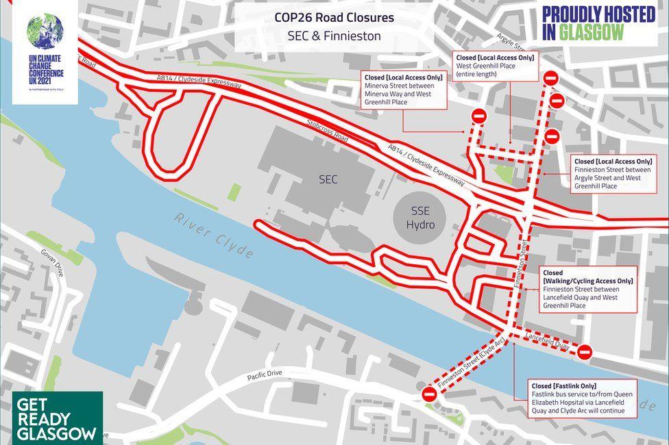 COP26 road closures