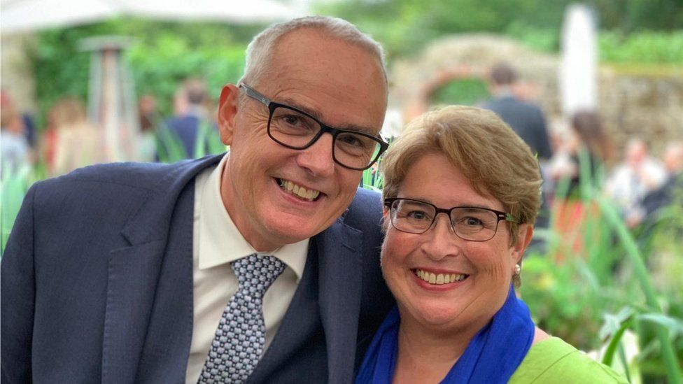 Wendy Small, pictured with her husband Geoff.